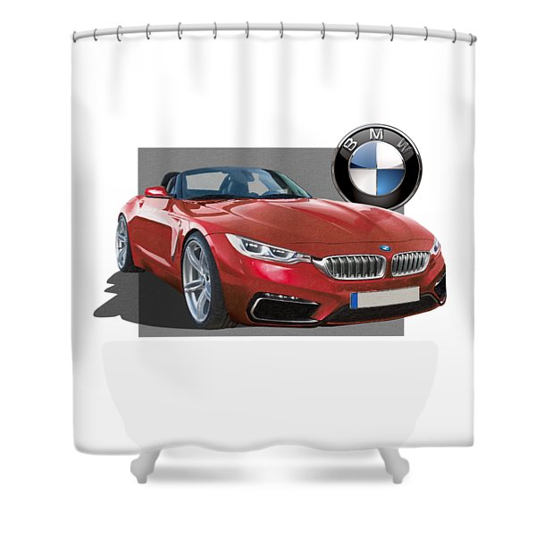 Red 2018 B M W  Z 5 With 3 D Badge  Shower Curtain