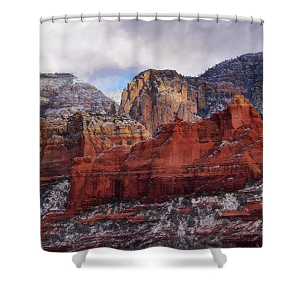 Red Rock Peaks Shower Curtain