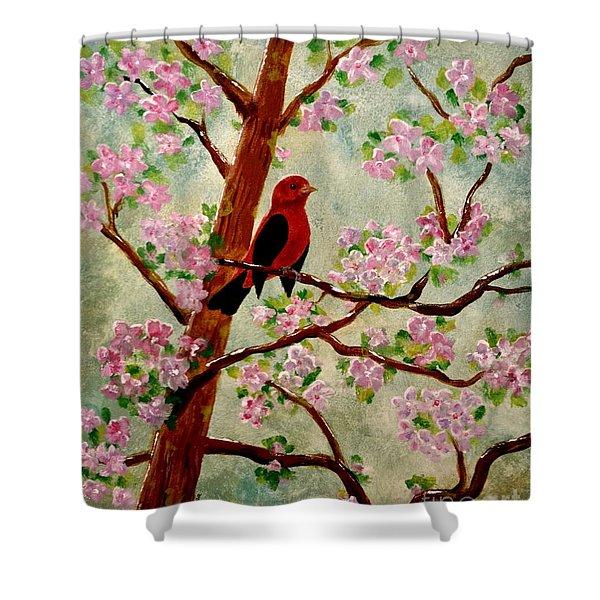 Red Tangler Shower Curtain
