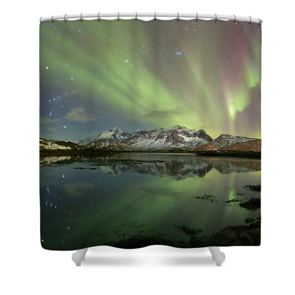 Reflected Lights Shower Curtain