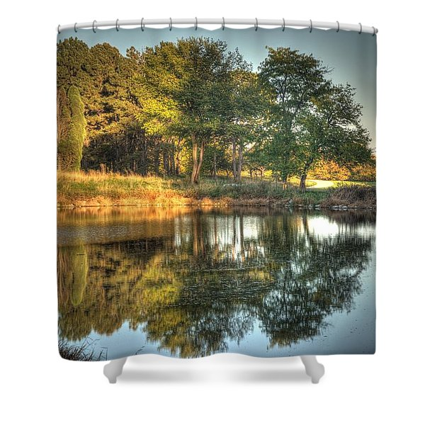 Reflections At Sunset Shower Curtain
