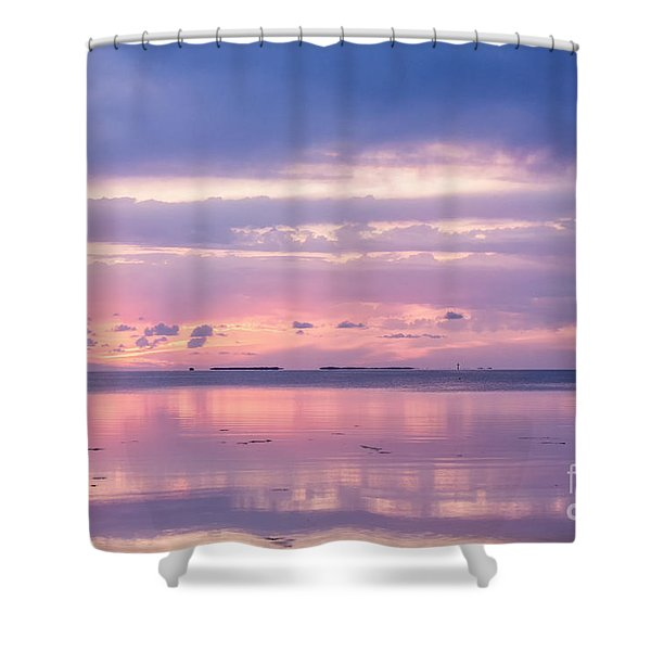 Reflections At Sunset In Key Largo Shower Curtain