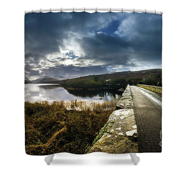 Road To Snowdon Shower Curtain