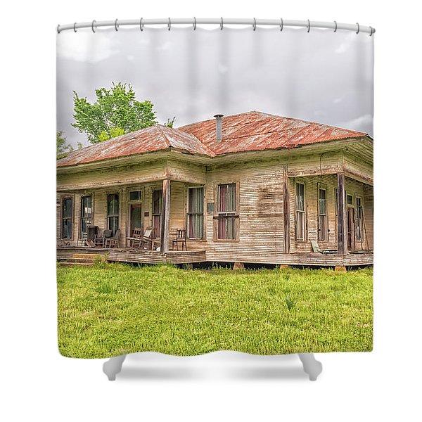 Arkansas Roadside House Shower Curtain