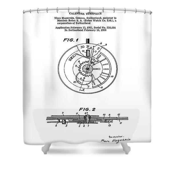 Rolex Watch Patent 1999 Shower Curtain