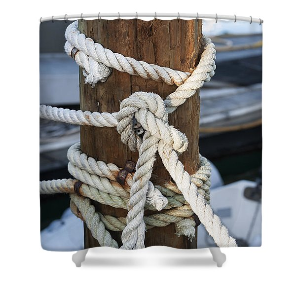 Rope Fence Fragment Shower Curtain