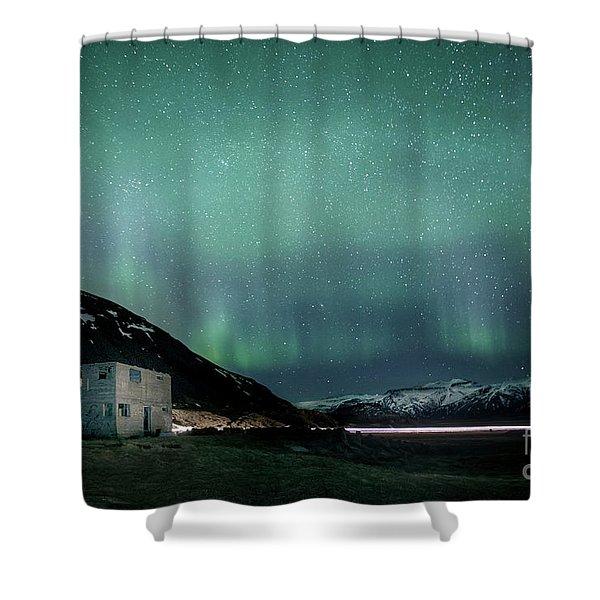 Run Through The Night Shower Curtain