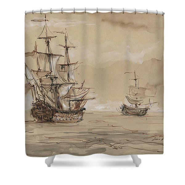 Sail Ships Shower Curtain