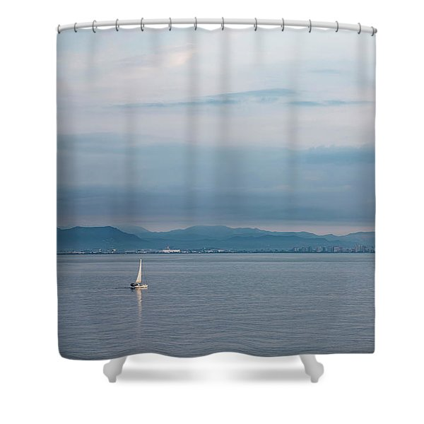 Sailing To Shore Shower Curtain