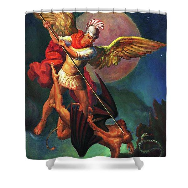 Saint Michael The Warrior Archangel Shower Curtain