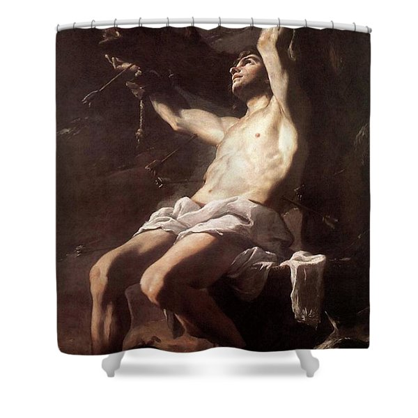 Saint Sebastian By Mattia Preti Shower Curtain