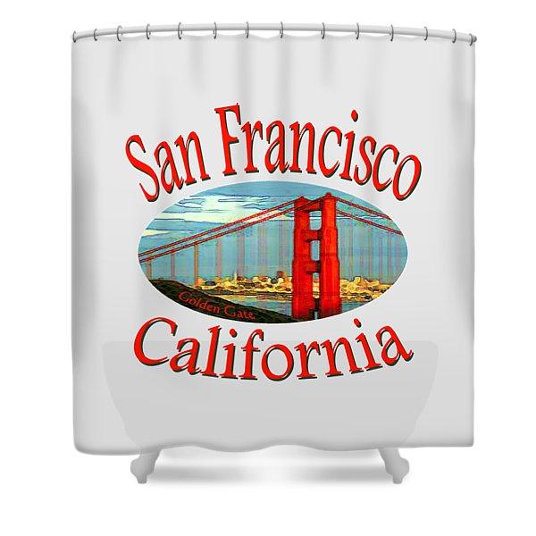 San Francisco California Design Shower Curtain