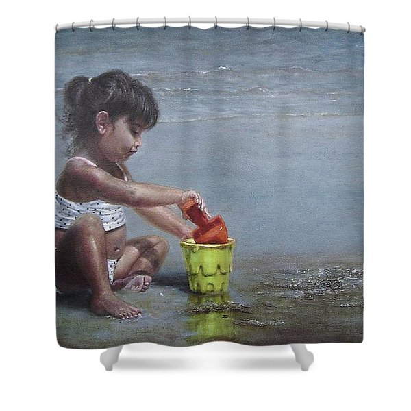 Sand Castles II Shower Curtain