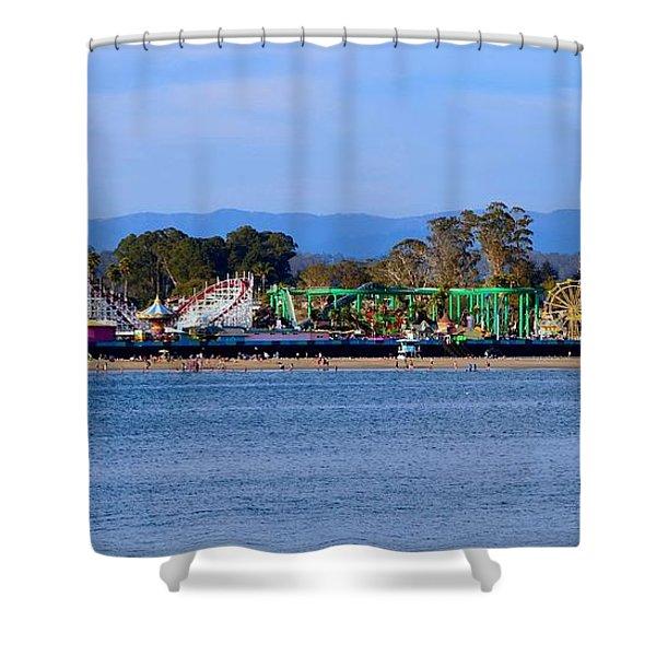 Santa Cruz Boardwalk Shower Curtain