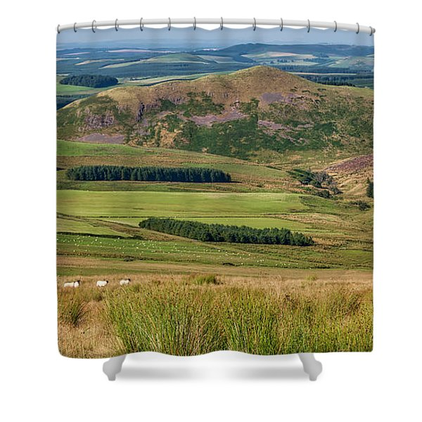 Scotland View From The English Borders Shower Curtain