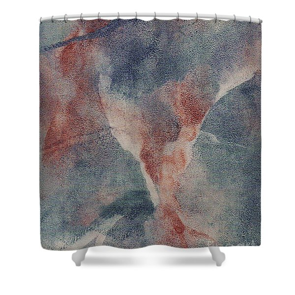 Shower Curtain featuring the mixed media Ser.1 #10 by Writermore Arts