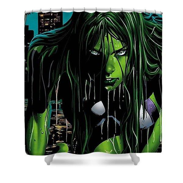 She-hulk Shower Curtain