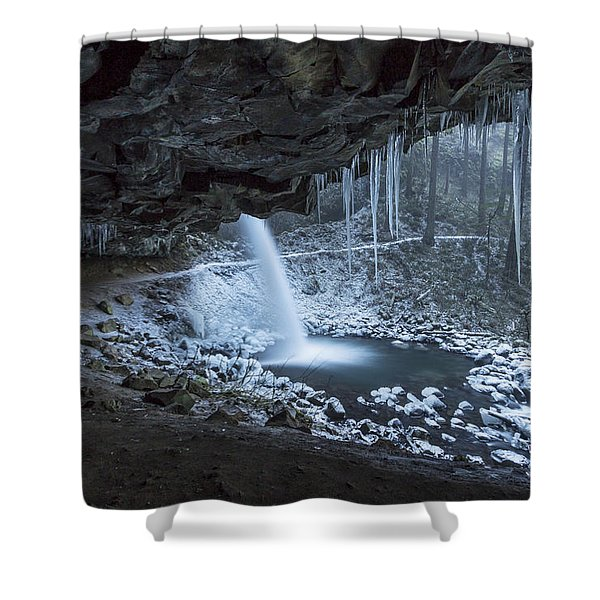 Sheltered From The Blizzard Signed Shower Curtain