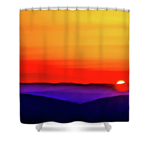 Shenandoah Valley Sunset Shower Curtain