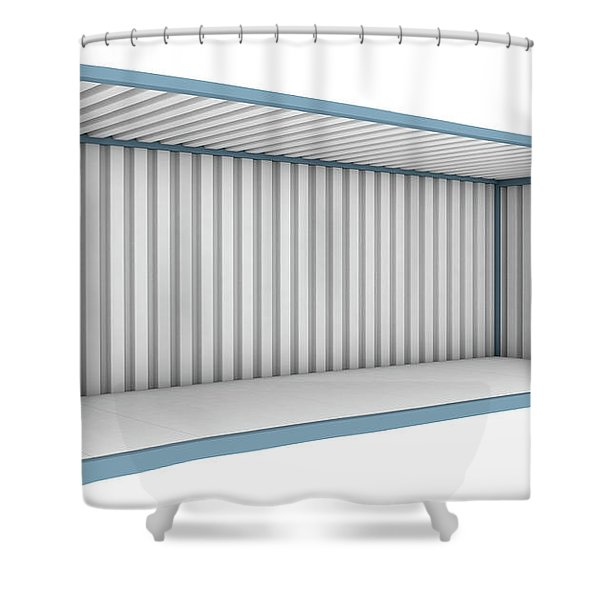 Shipping Container Cutaway Shower Curtain
