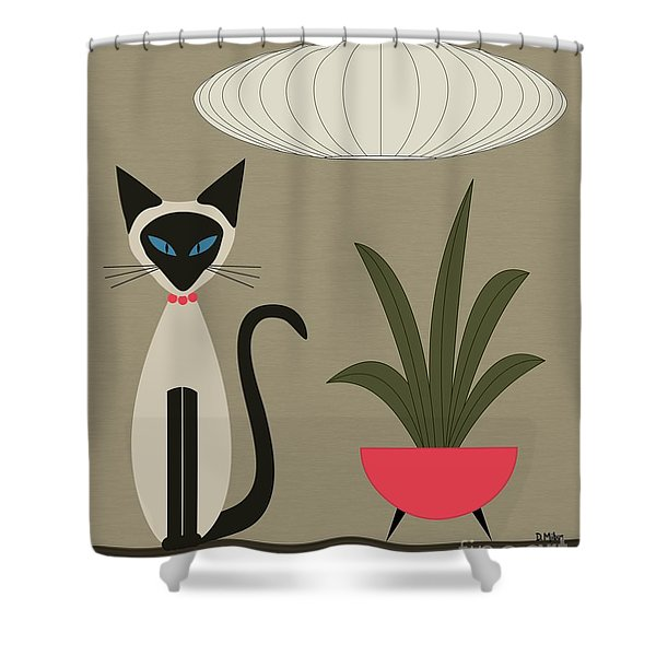 Siamese Cat On Tabletop Shower Curtain