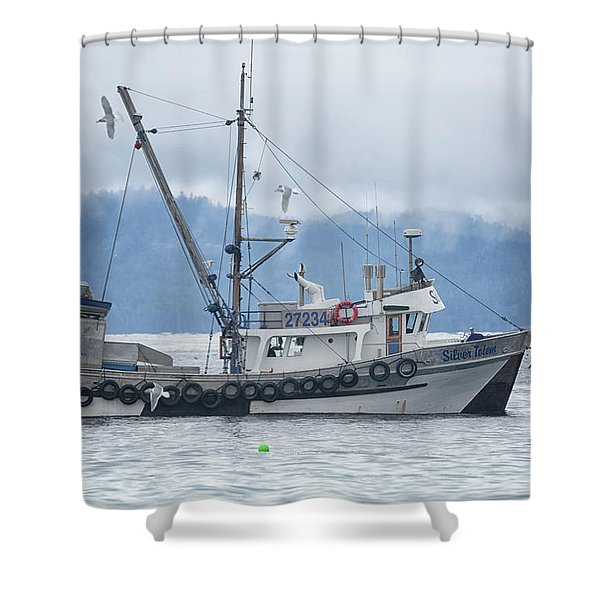 Silver Totem Shower Curtain