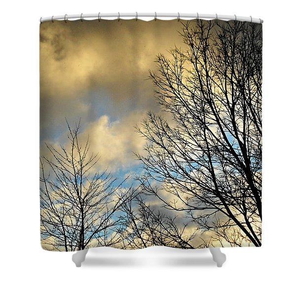 Slightly Overcast Shower Curtain
