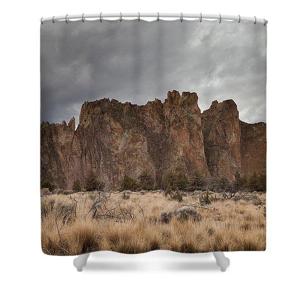 Smith Rock, Oregon Shower Curtain