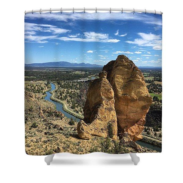 Smith Rocks Shower Curtain