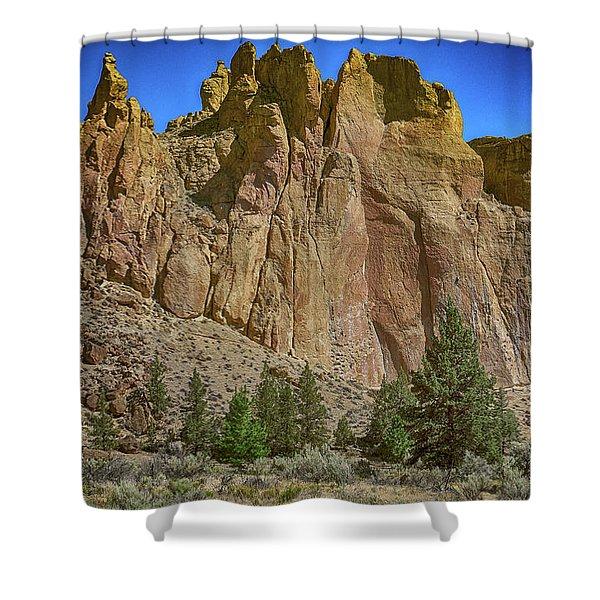 Smith's Rock, Oregon Shower Curtain