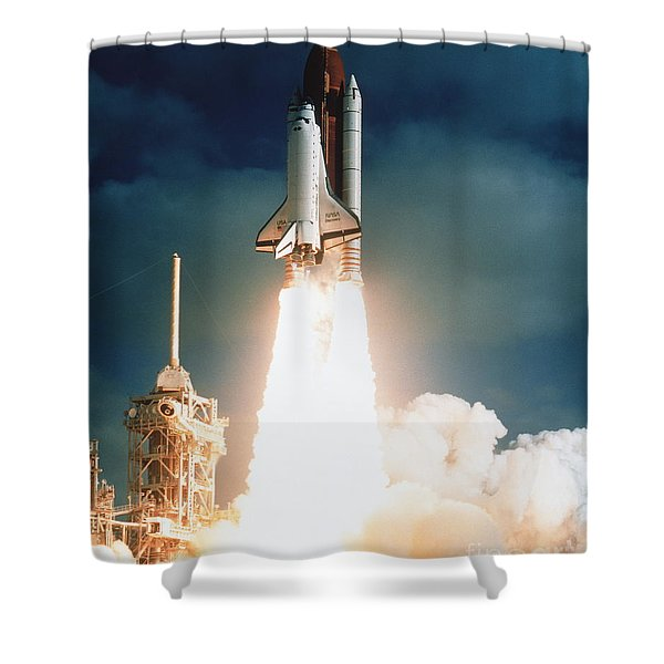 Space Shuttle Launch Shower Curtain
