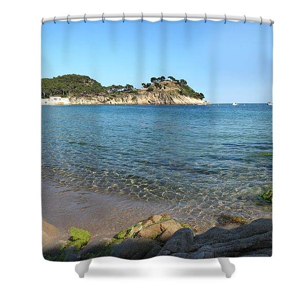 Spanish Beach Seascape Shower Curtain