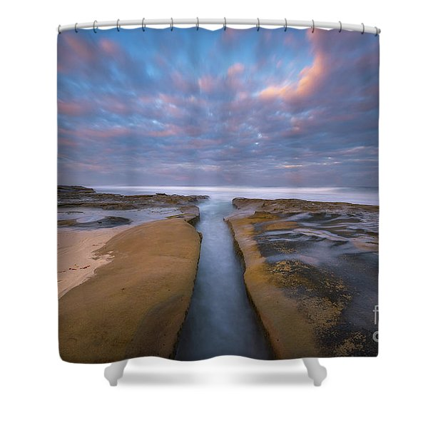 Where Worlds Divide  Shower Curtain