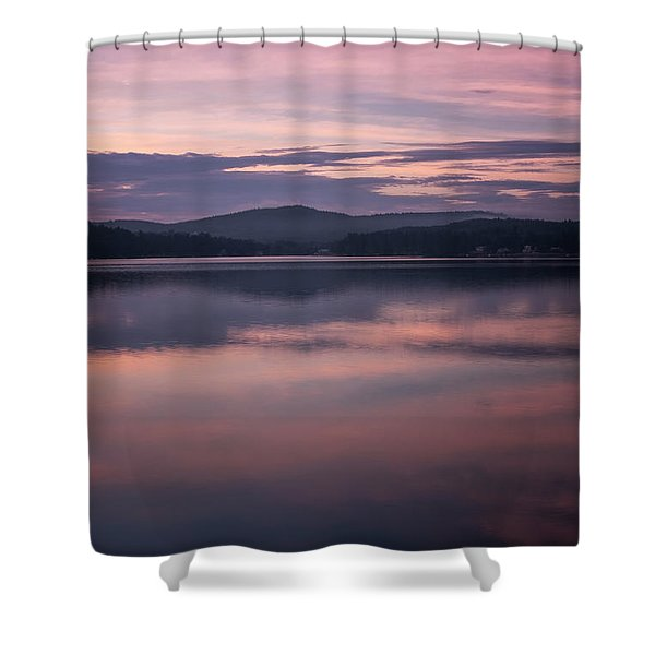 Shower Curtain featuring the photograph Spofford Lake Sunrise by Tom Singleton