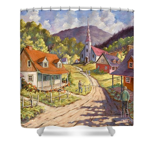 Spring Time Sun Shower Curtain