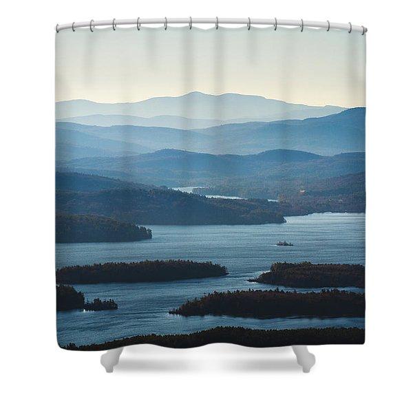 Squam Lake Shower Curtain