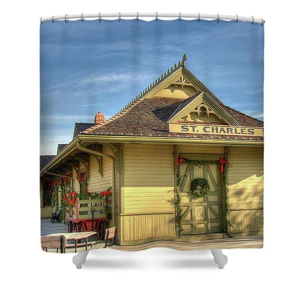 St. Charles Depot Shower Curtain
