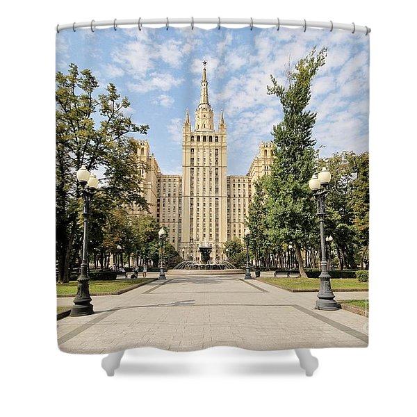 Kudrinskaya Square Shower Curtain