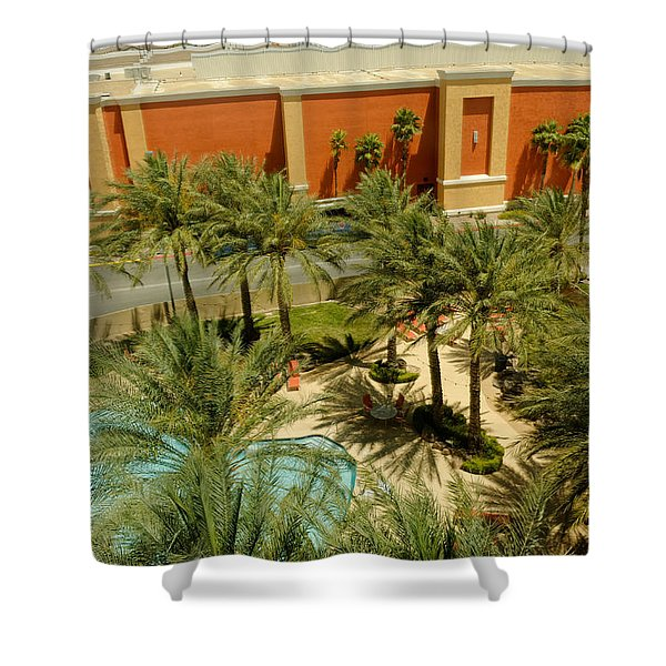 Staycation Upgrade Shower Curtain