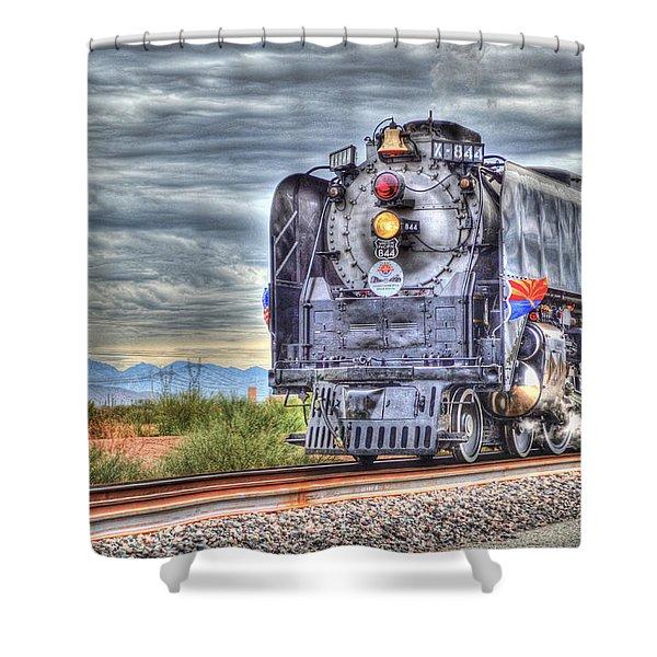 Steam Train No 844 Shower Curtain