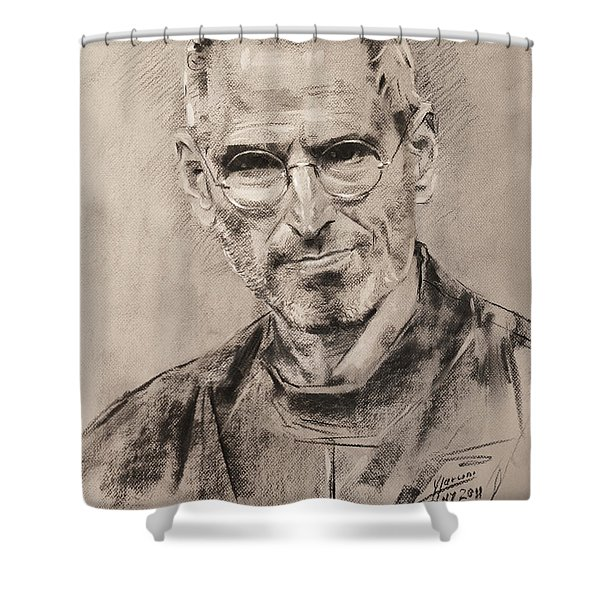 Steve Jobs Shower Curtain
