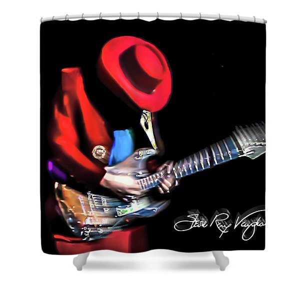 Stevie Ray Vaughan - Texas Flood Shower Curtain
