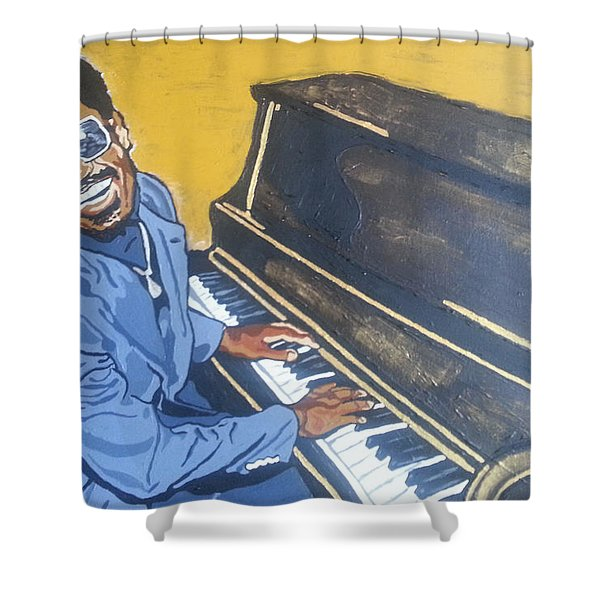 Stevie Wonder Shower Curtain