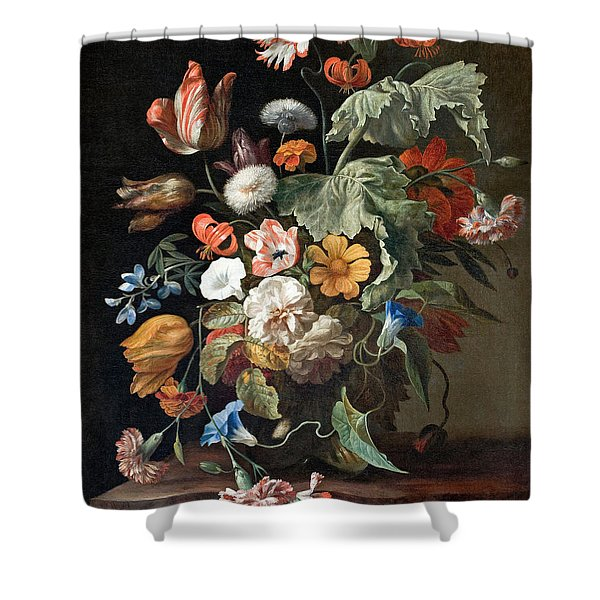 Still-life With Flowers Shower Curtain