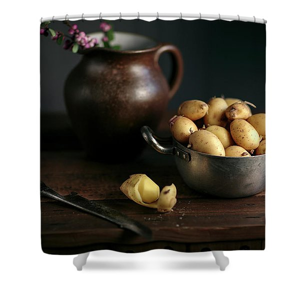 Still Life With Potatoes Shower Curtain