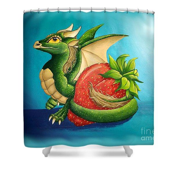 Strawberry Dragon Shower Curtain