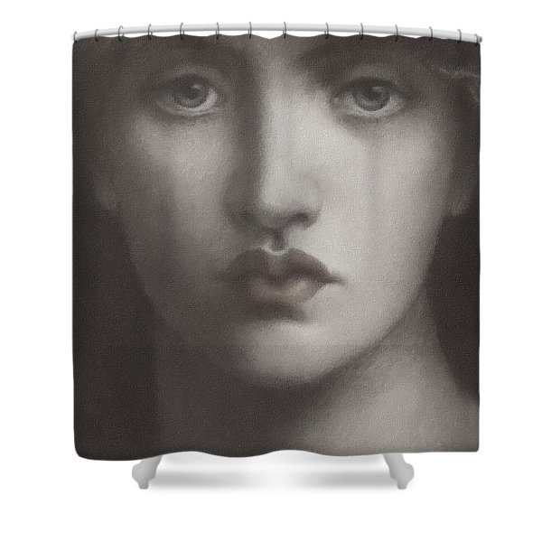 Study Of Jane Morris Shower Curtain