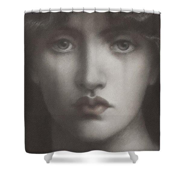 Study Of Jane Morris Shower Curtain