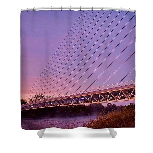 Sundial Bridge Shower Curtain