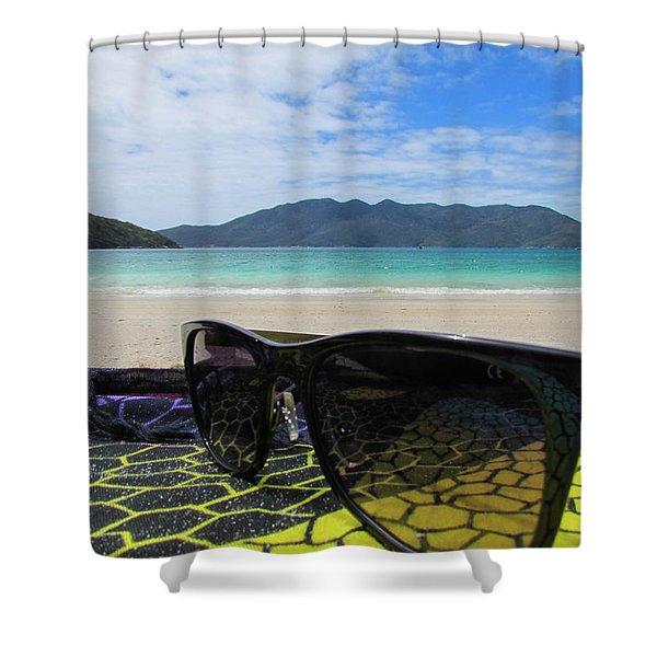 Sunglasses Shower Curtain